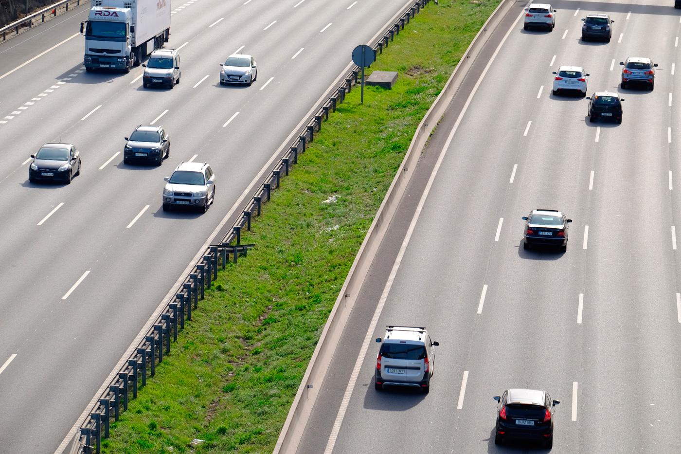 Adelantamiento en autopista